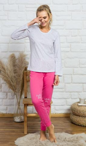 Dámské pyžamo Vienetta Secret Lilien šedá