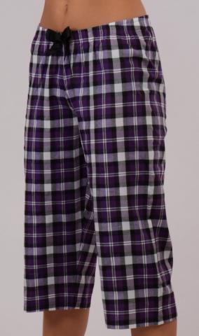 Dámské pyžamové kalhoty Vienetta Secret (kapri-plátno) - Lucie