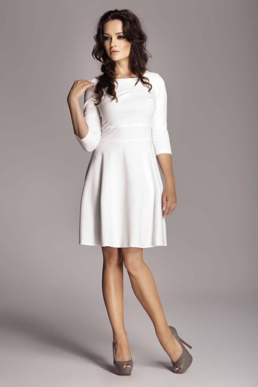 Dámské šaty FIGL M081 krémové