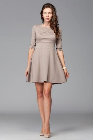 Dámské šaty FIGL M081 mocca