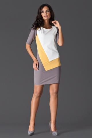Dámské šaty FIGL M118 žluté