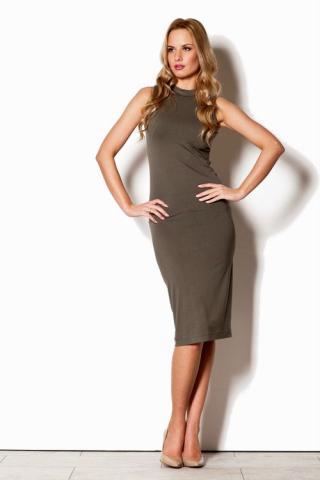 Dámské šaty FIGL M263 olivové