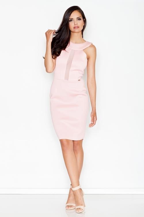 Dámské šaty fIGL M372 růžové