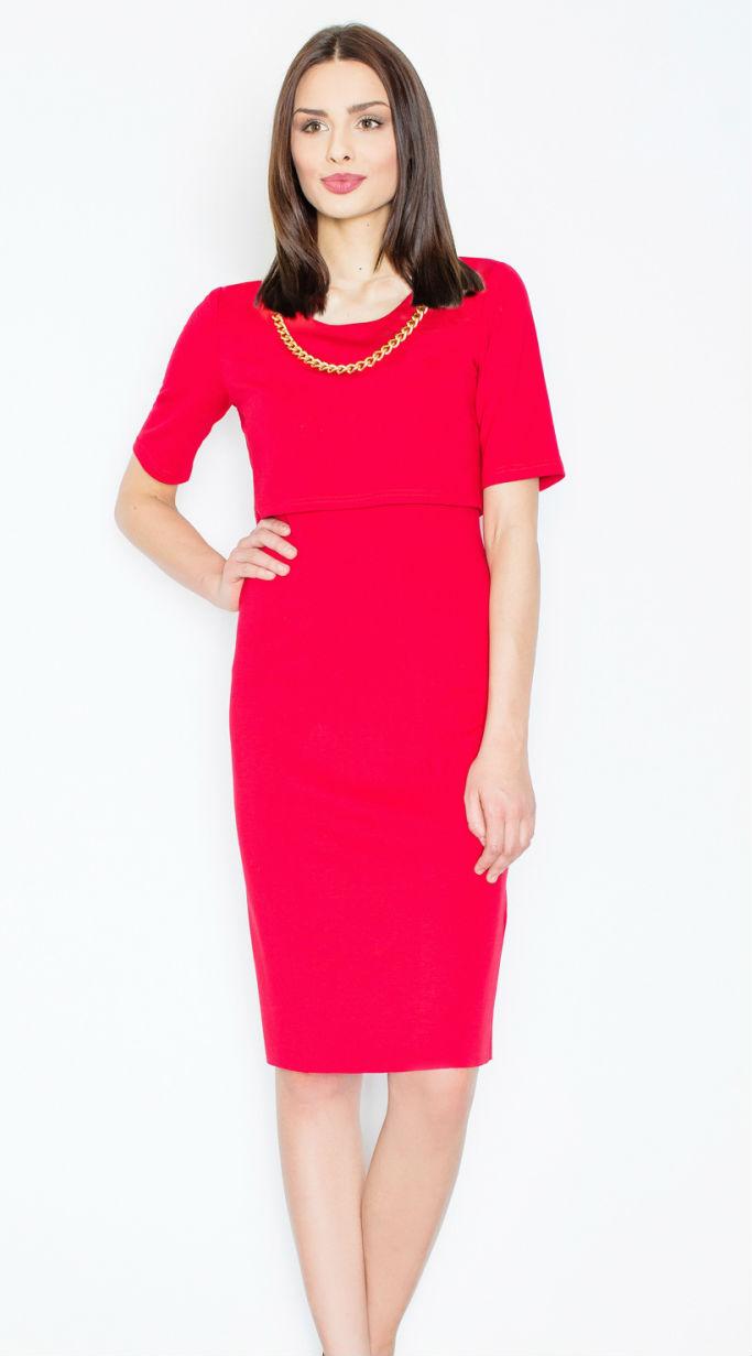 Dámské šaty FIGL M446 červené