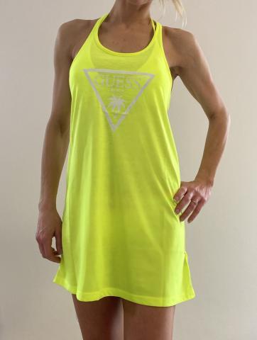 Dámské šaty Guess 02I02 neon žlutá