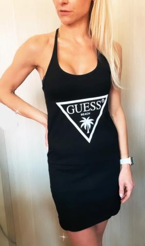 Dámské šaty GUESS E02I02 černá