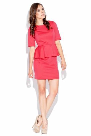 Dámské šaty Katrus K020 korálová