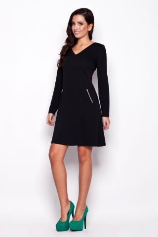 Dámské šaty Katrus K078 černé