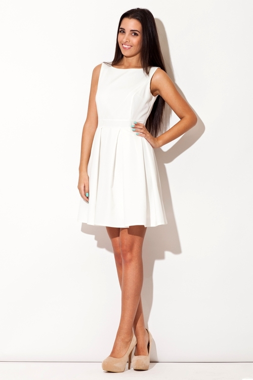 Dámské šaty Katrus K128 krémové