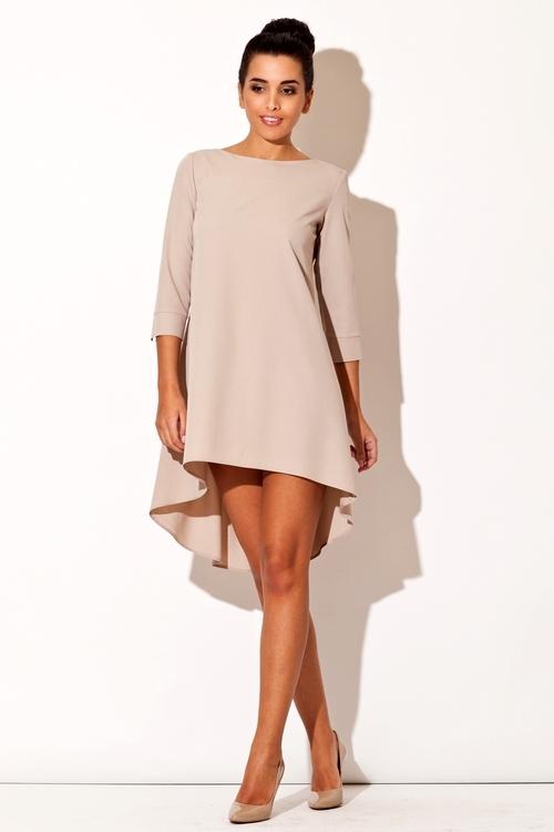 Dámské šaty Katrus K141 béžové