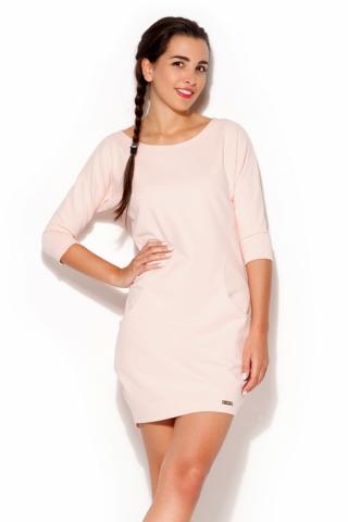 Dámské šaty Katrus K181 růžové