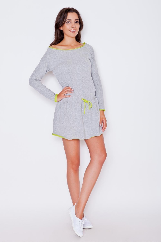 Dámské šaty Katrus K278 grey-lime
