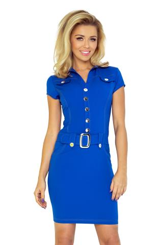 Dámské šaty Numoco 142-3 modrá