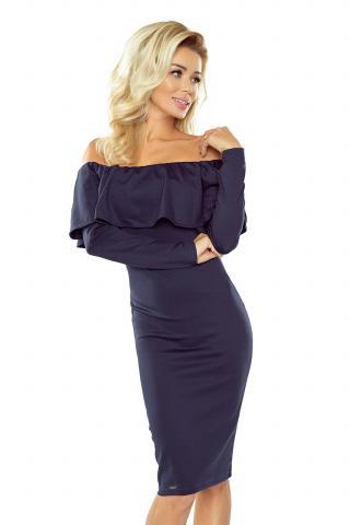Dámské šaty Numoco 156-1 tmavě modré