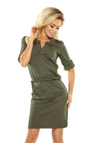 Dámské šaty Numoco 161-2 olivové
