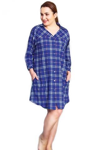 Dámské domácí šaty s tříčtvrtečním rukávem Vanda