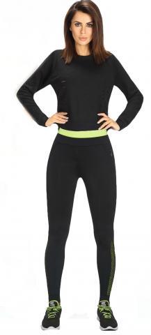 Dámské sportovní legíny BasBleu Inspire black-green