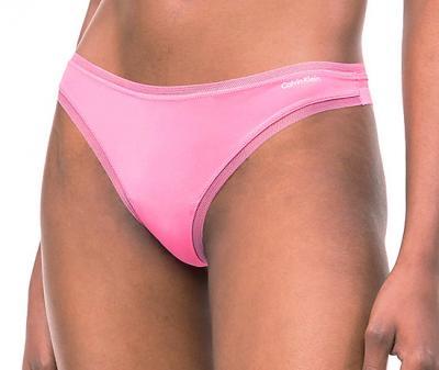 Dámské tanga Calvin Klein QF1666E růžové