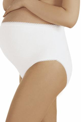 Dámské těhotenské kalhotky Italian Fashion Mama maxi bílé