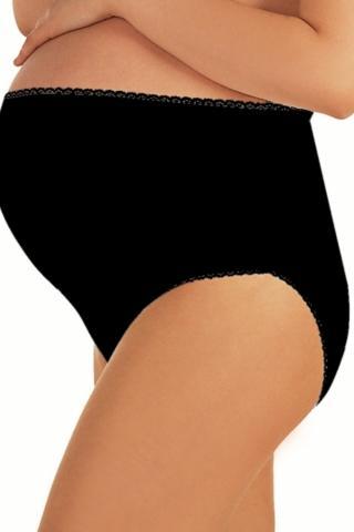 Dámské těhotenské kalhotky Italian Fashion Mama maxi černé