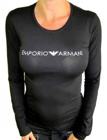 Dámské tričko Emporio Armani 163229 8A317 černé