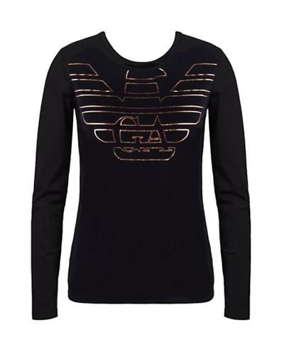 Dámské tričko Emporio Armani 163229 9A232 černá