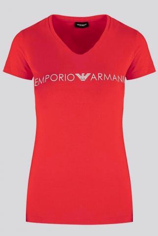 Dámské tričko Emporio Armani 163321 0P317 čevená
