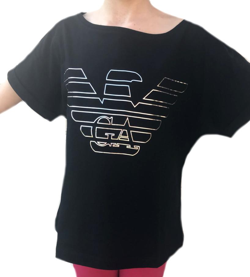 Dámské tričko Emporio Armani 164008 černé