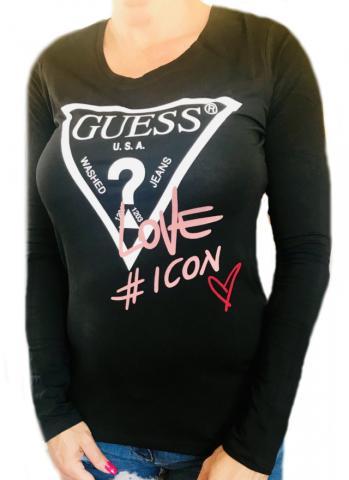 Dámské tričko Guess O94I11 černé