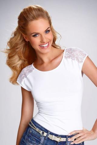 Dámské triko Eldar Tosca bílé