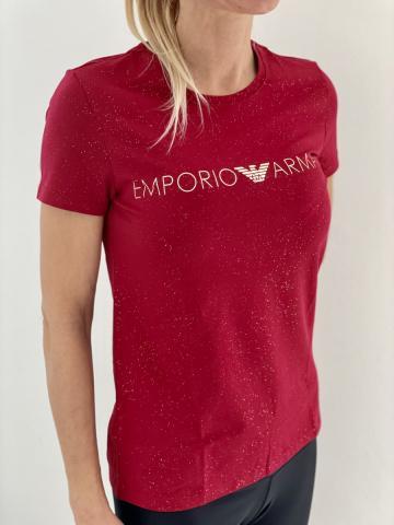 Dámské triko Emporio Armani 164272 1A225 červená