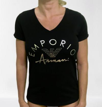 Dámské triko Emporio Armani 164334 0P291 černá