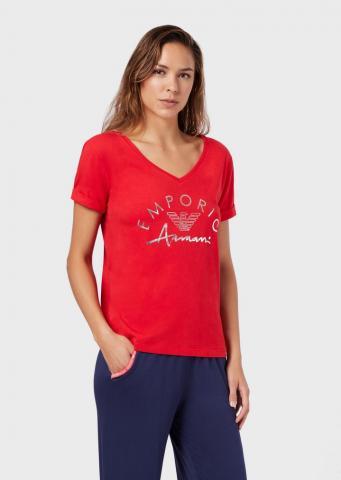 Dámské triko Emporio Armani 164334 0P291 červená
