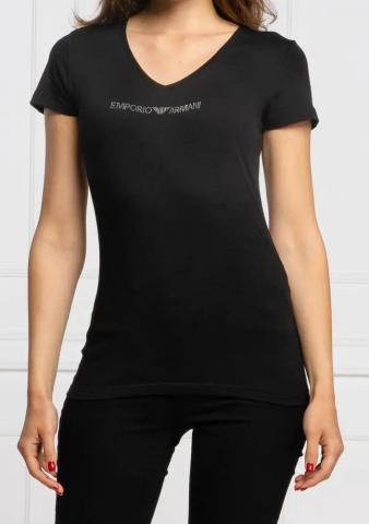 Dámské triko Emporio Armani 164407 CC318 černé