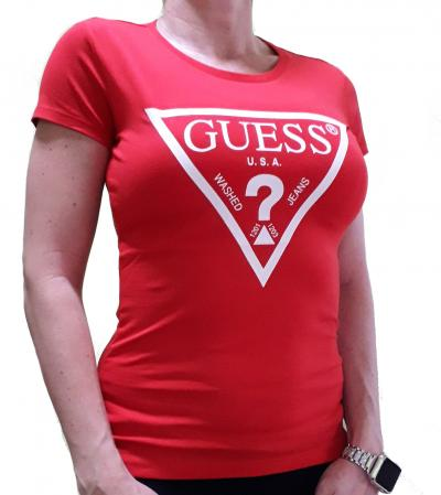 Dámské triko Guess O94I02 červená