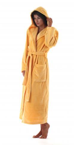 Dámský dlouhý župan s kapucí Vestis Siena 3156 banánová