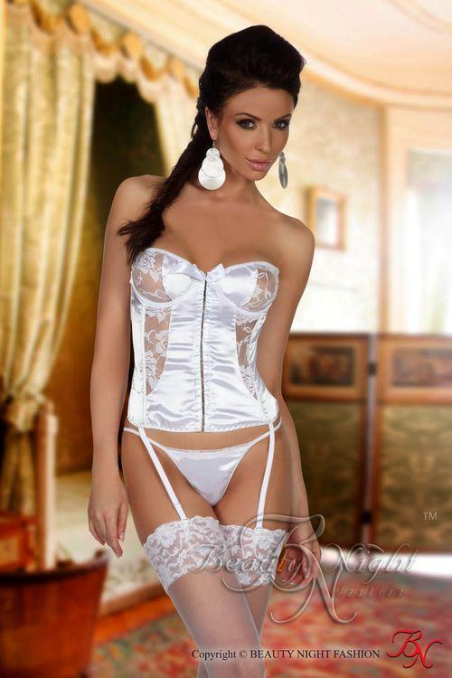 Dámský erotický korzet Beauty Night Fashion Patricia white