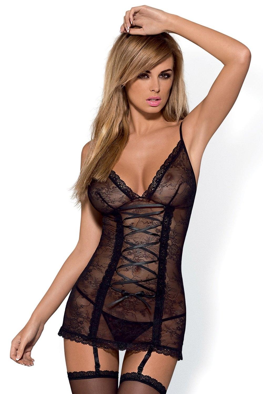 Dámský erotický korzet Obsessive Slevika corset černý