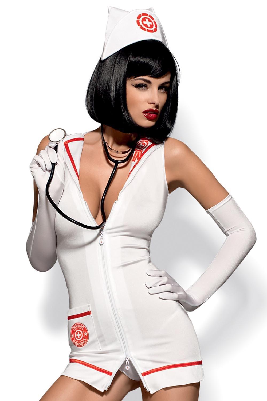 Dámský erotický kostým Obsessive Emergency dress a stetoskop