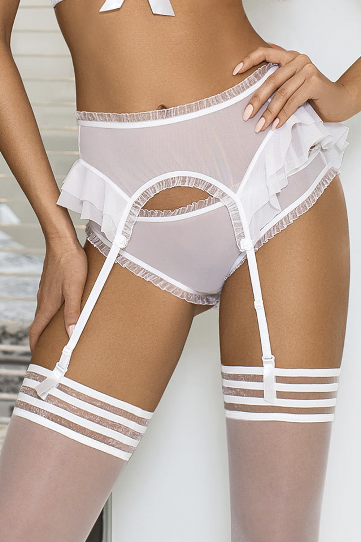 Dámský erotický podvazkový pás Axami V-6502 Creme