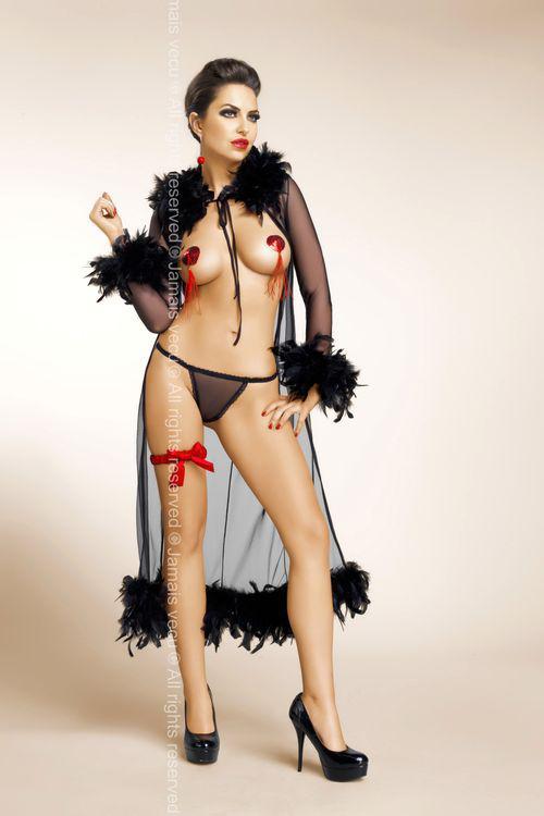 Dámský erotický župan Jamais Vecu Rita black