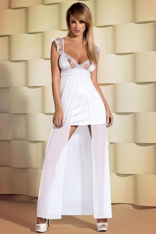 Dámský erotický župan Obsessive Feelia gown XXL
