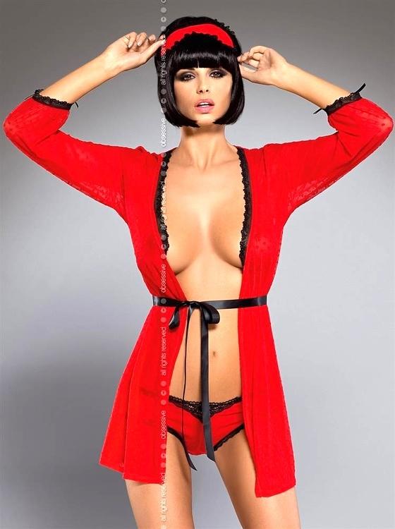 Dámský erotický župan Obsessive Truelove peignoir