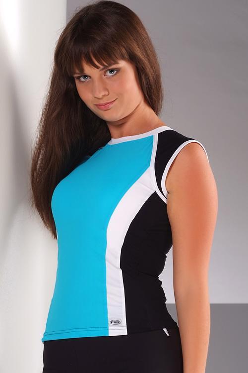 Dámský fitnes top Winner Bella tyrkys