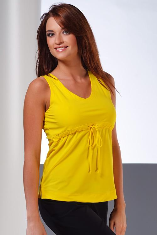 Dámský fitnes top Winner Estera yellow
