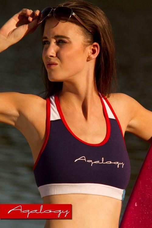 Dámský fitness top Aqalogy Young Marine