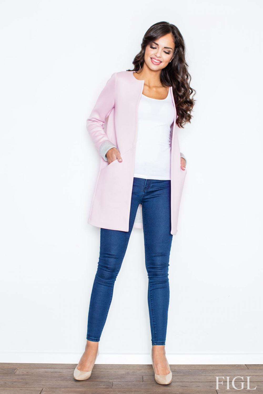 Dámský kabát FIGL M366 růžový