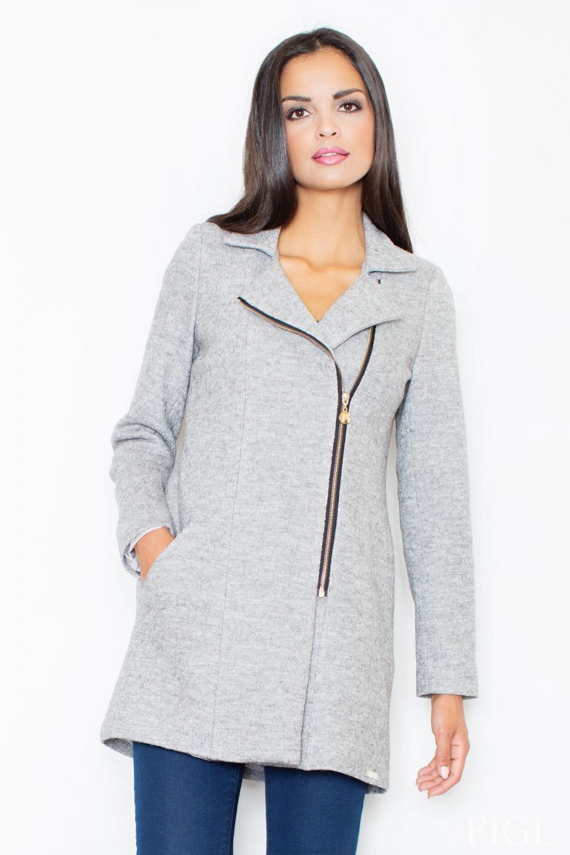 Dámský kabát FIGL M405 šedý