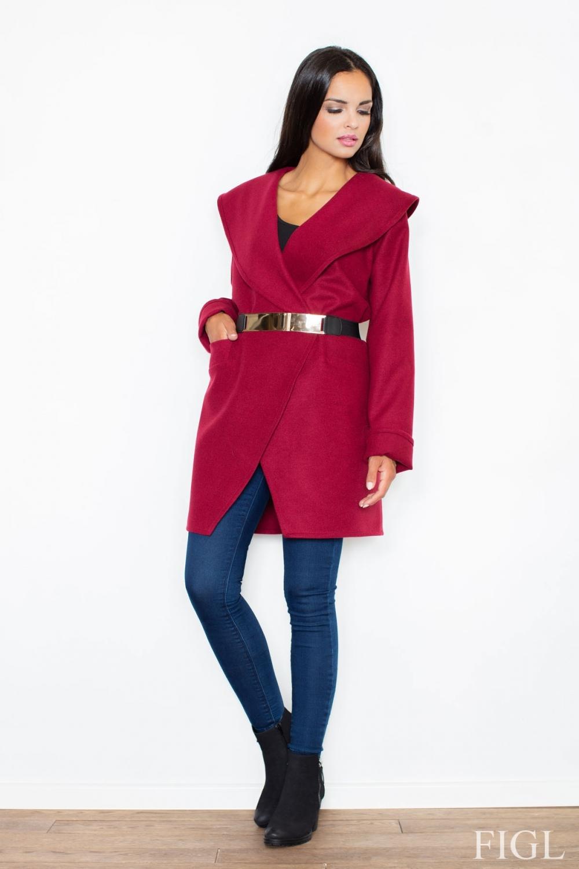 Dámský kabát FIGL M407 vínový