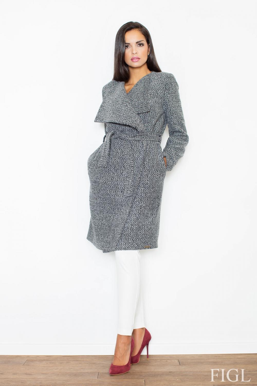 Dámský kabát FIGL M408 šedý